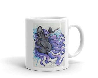 Black unicorn mug (11oz)