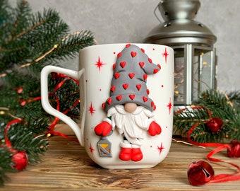 Christmas Mugs - Gnome mug - Christmas coffee mug - valentine gnomes - Christmas gnome mug