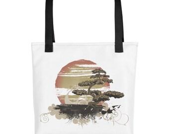Japanese Inspired Bonsai Tree Tote bag