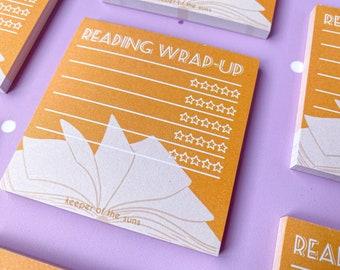 Reading Memo Pad - Stationery - Kawaii memopad notepad notes reading wrap-up reader bookish read booklover books book review