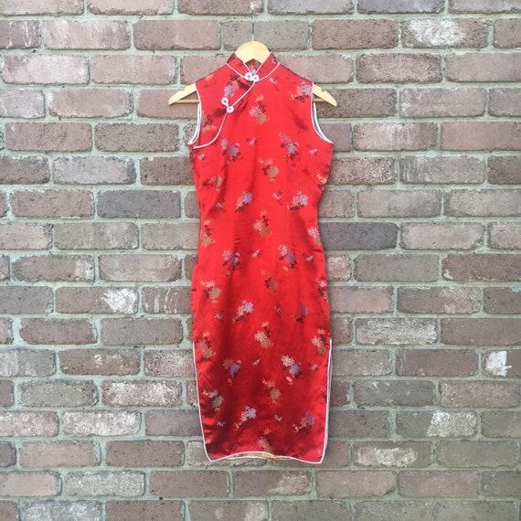 Vintage Red 1960s Cheongsam