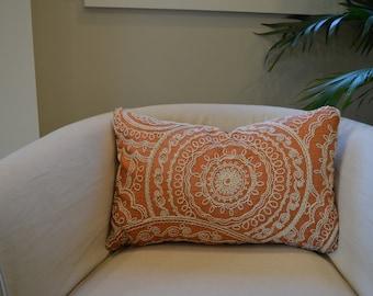 "Kravet Embroidered 14""x21"" Lumbar Pillow"