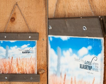 Wheat 'Feed my soul where the blacktop ends' Canvas Hanger ©Krystle VanRoboys, Photographer