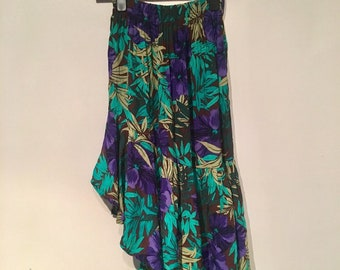 Blue and purple floral gypsy skirt size 8