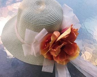 cb8e0e02bc0 Easter Flower Straw Hat for Women