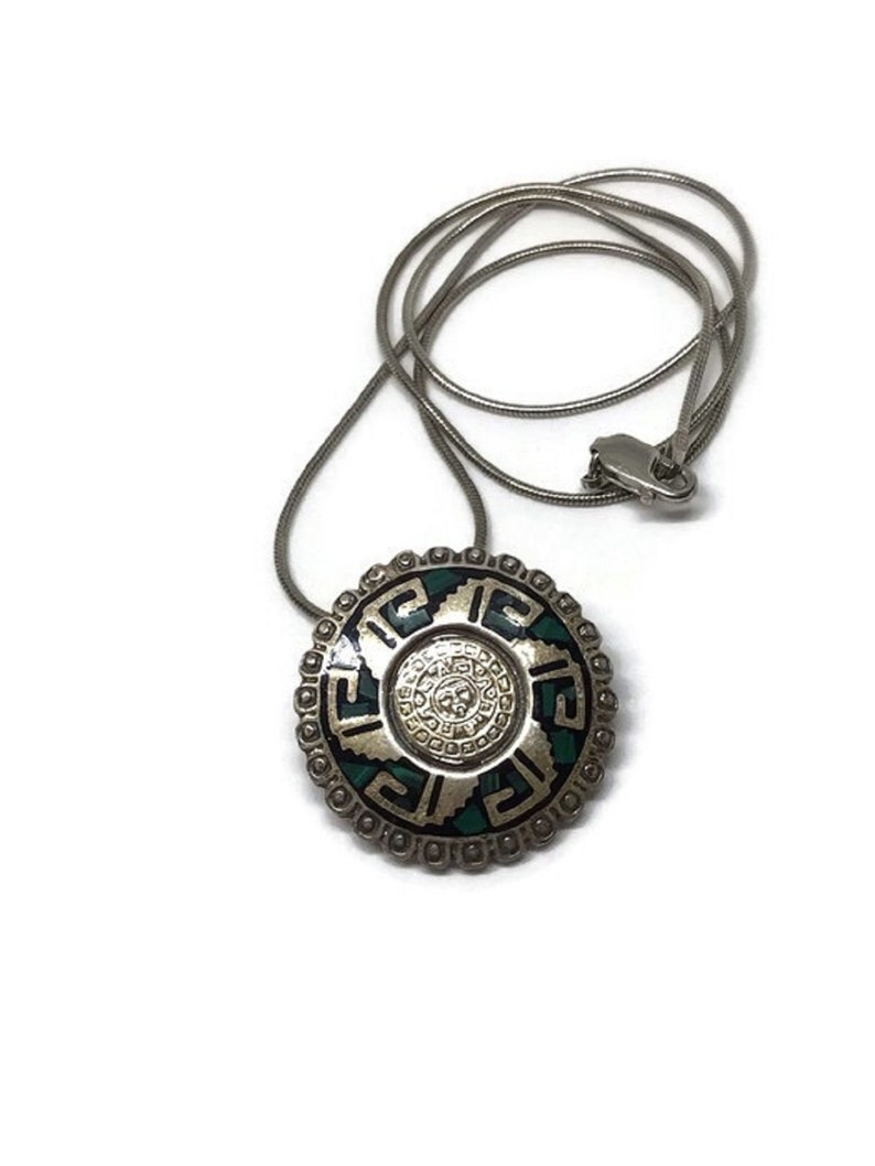 Solid Taxco Mexican 925 Sterling Silver Biker Medallion Pendant Top