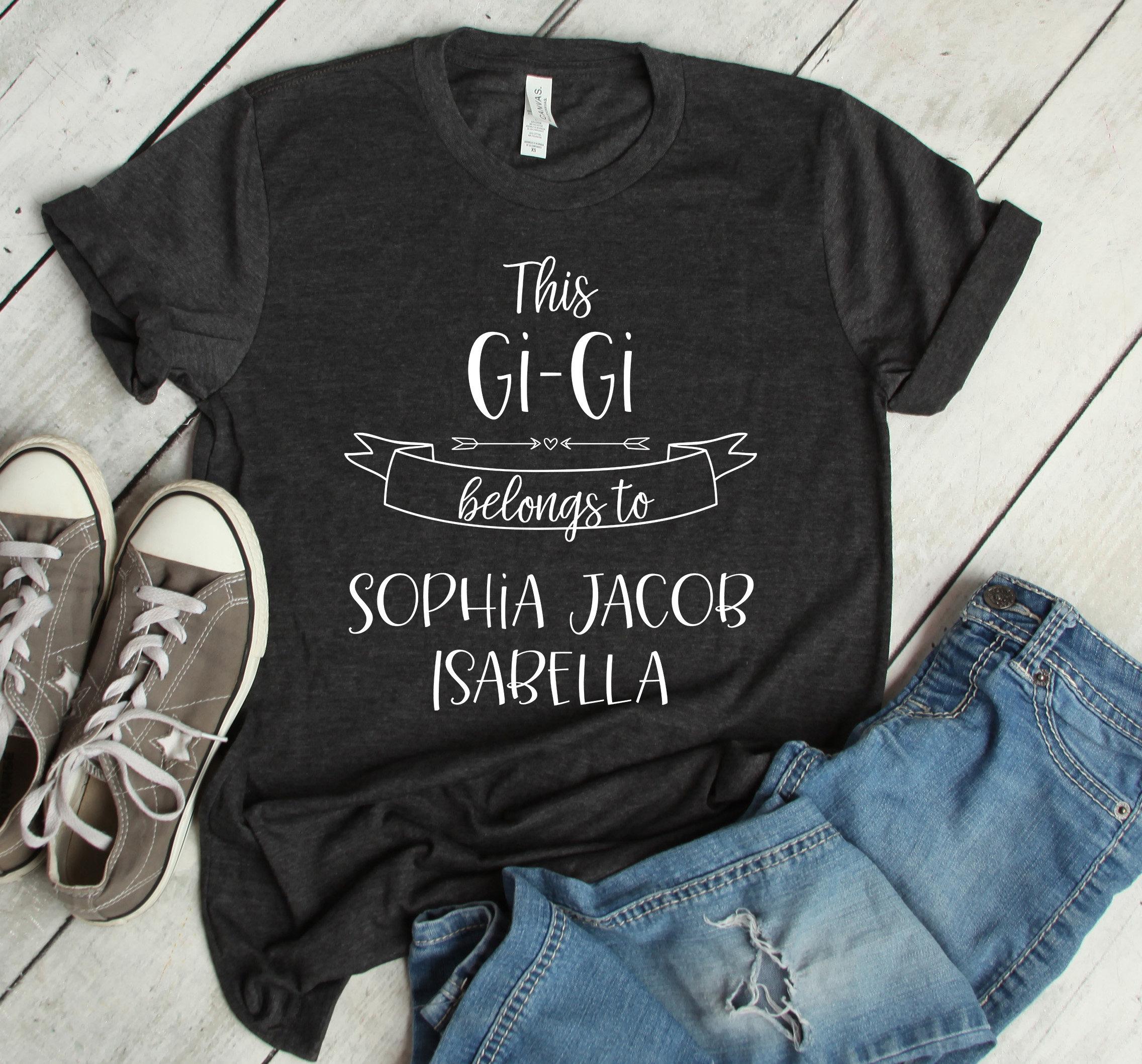 ce GiGi appartient chemise à la chemise, cadeaux grand-mère sur mesure,  chemise appartient de nana, cadeaux pour grand-maman, nouveau cadeau de  grand-maman, ... 5a5d049fbf52