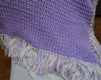 Soft Lavender Crochet Baby Blanket