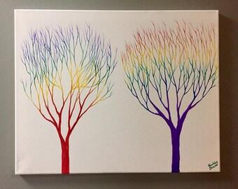 Double Rainbow Trees