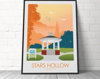 Star Hollow Gilmore Girls TV Prints. Stars Hollow Minimalist Poster, Alternative Poster, Poster Art print, TV Poster, Wall Art, Prints