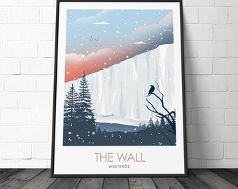 The Wall Game Of Thrones Minimalist TV Poster Movie Prints