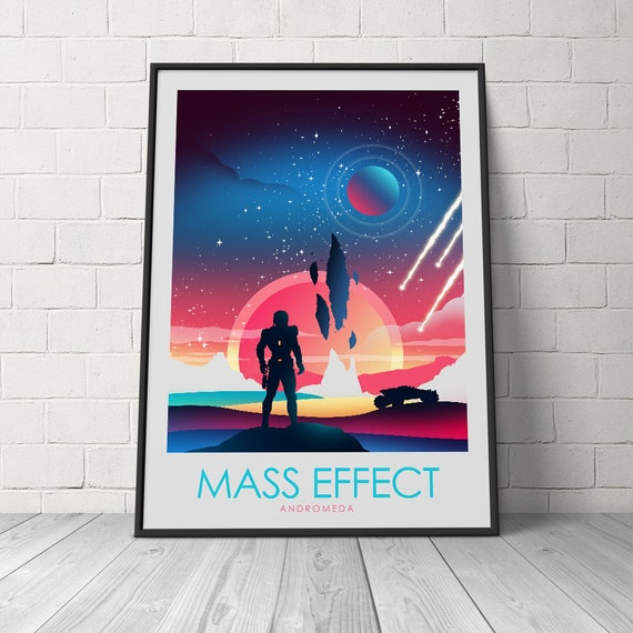 Mass Effect Andromeda Video Game Poster Print Travel Poster | Etsy