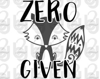 Zero Fox Given SVG DXF PNG Downloading Cutfile