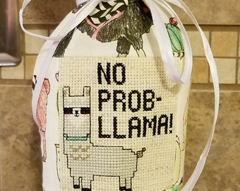 Llama design winde bottle bag