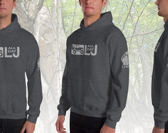 Men's LJ Nation / LJ All Day - Gray Logo - Special Edition Hoodie