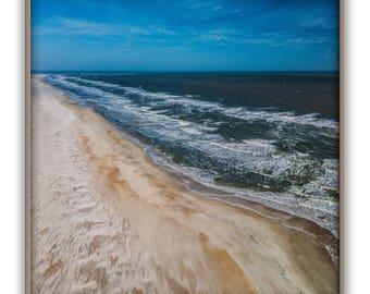 Ocean print, beach print, Atlantic print, Florida print, coast print, sand print, water print