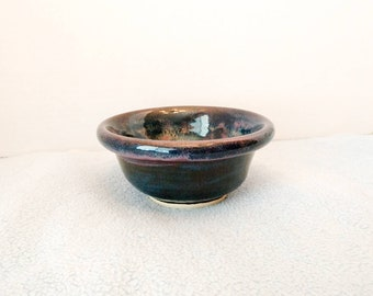 Purple & Blue Glazed Bowl