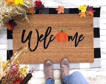 Welcome Fall Mat | Halloween Doormat | Welcome Mat | Door mat | Funny doormat | Halloween | Pumpkin | Fall Decor | Fall Doormat