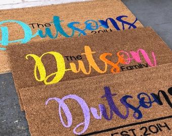Ombre doormat | Multi-Colored doormat | Home Decor | Front porch Decor | Housewarming Gift | Door Mat | Welcome Mat