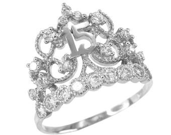 619b2dbd7 greece my princess tiara pandora rose clear cz 80 5b75d 5d7b3; cheap white  gold crown quinceanera 15 anos cz ring quinceanera ring quinceañera 84373  f4c18