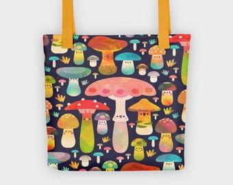 1fcf41a30926 Mushroom tote bag   Etsy