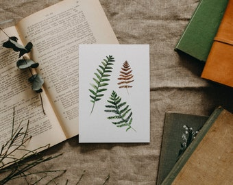Ferns Watercolor Print