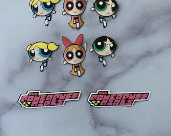 "Powerpuff Girls Blossom Vynil Car Sticker Decal 4 Pack  2.5/"""