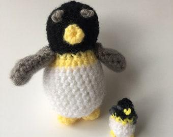 Amigurumi Mama Penguin and Baby Penguin