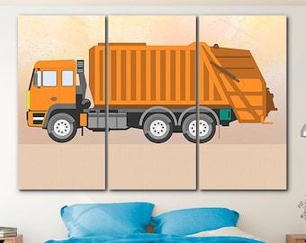 Semi Trailer Long Hauler Five Piece Framed Canvas Multi Panel Home Decor