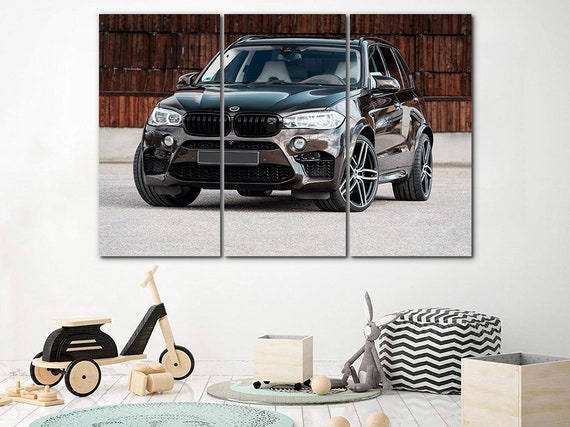 BMW canvas Car print BMW car art Engine canvas Nursery art BMW poster Kids room decor Sports car print Car art decor Gift idea Construction
