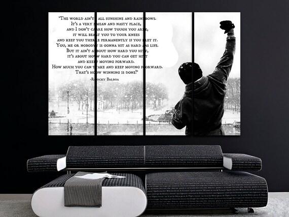 Rocky Balboa Canvas Sport Print Motivational Wall Art Rocky Balboa Decor Playroom Canvas Gym Print Fitness Studio Poster Crossfit Decor