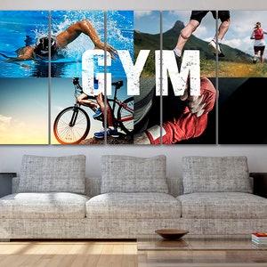 Gym canvas Sport print Motivational wall art Sport art decor Playroom canvas Gym print Fitness studio poster Crossfit decor Extreme canvas