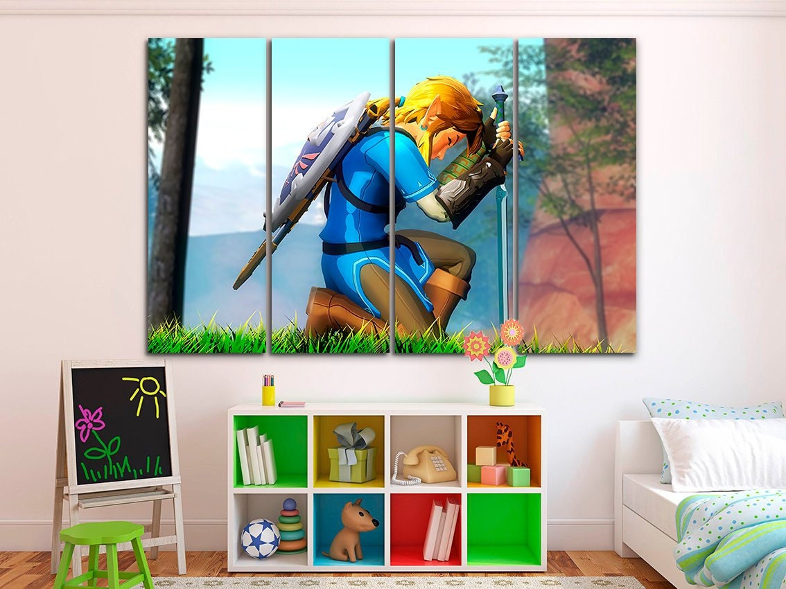 """Zelda Switch Video Game 24/"""" x 16/"""" Large Wall Poster Art Print Gift Decor"""