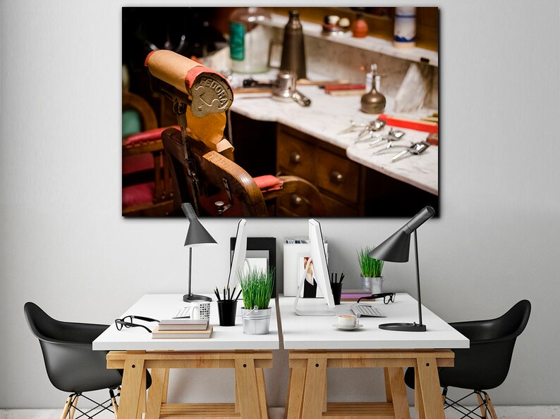 Barber shop canvas Barber print Motivational art Barber pole art decor Hairdressing salon canvas Wall hanging print Barber poster Cafe decor