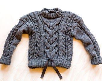 Handmade knitted baby jumper, handmade knitted baby pullover, handmade knitted baby sweater