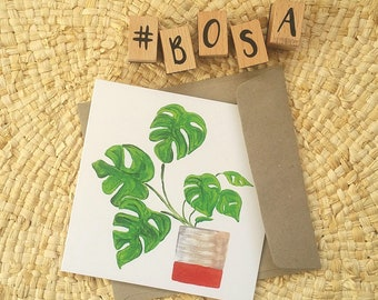 Monstera Greeting Cards / Blank Inside / Made in Tasmania / Plant Lovers Birthday Card or Special Occasion Card / Corporate Sationary