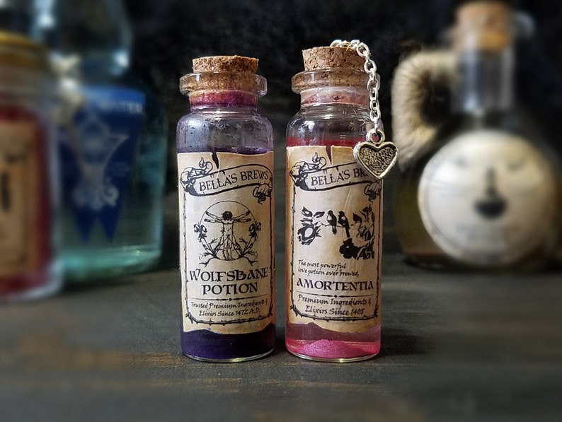 Wolfsbane Or Love Potion Magical Witch Wizard Collectible Etsy