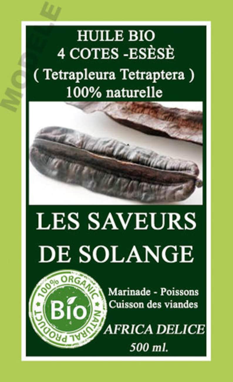 The Tetrapleura organic flavoured natural oil