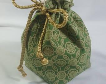 Green Flower Bag