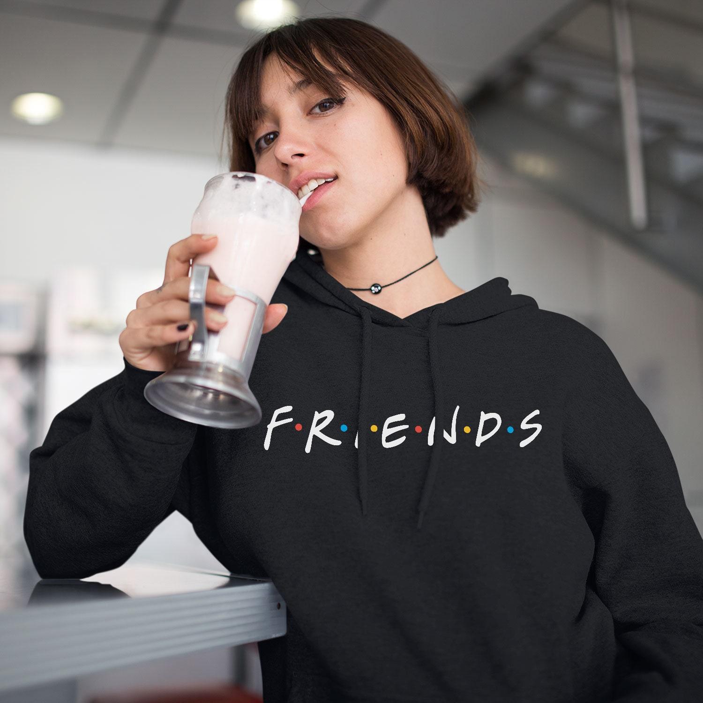 Amis à série capuche série à TV Flirt comme Joey, Rachel Sweat à capuche Hoodie Merchandise cadeaux Sweat à capuche grande taille pull Sweat noir amis mignon UP0014 38a1bd