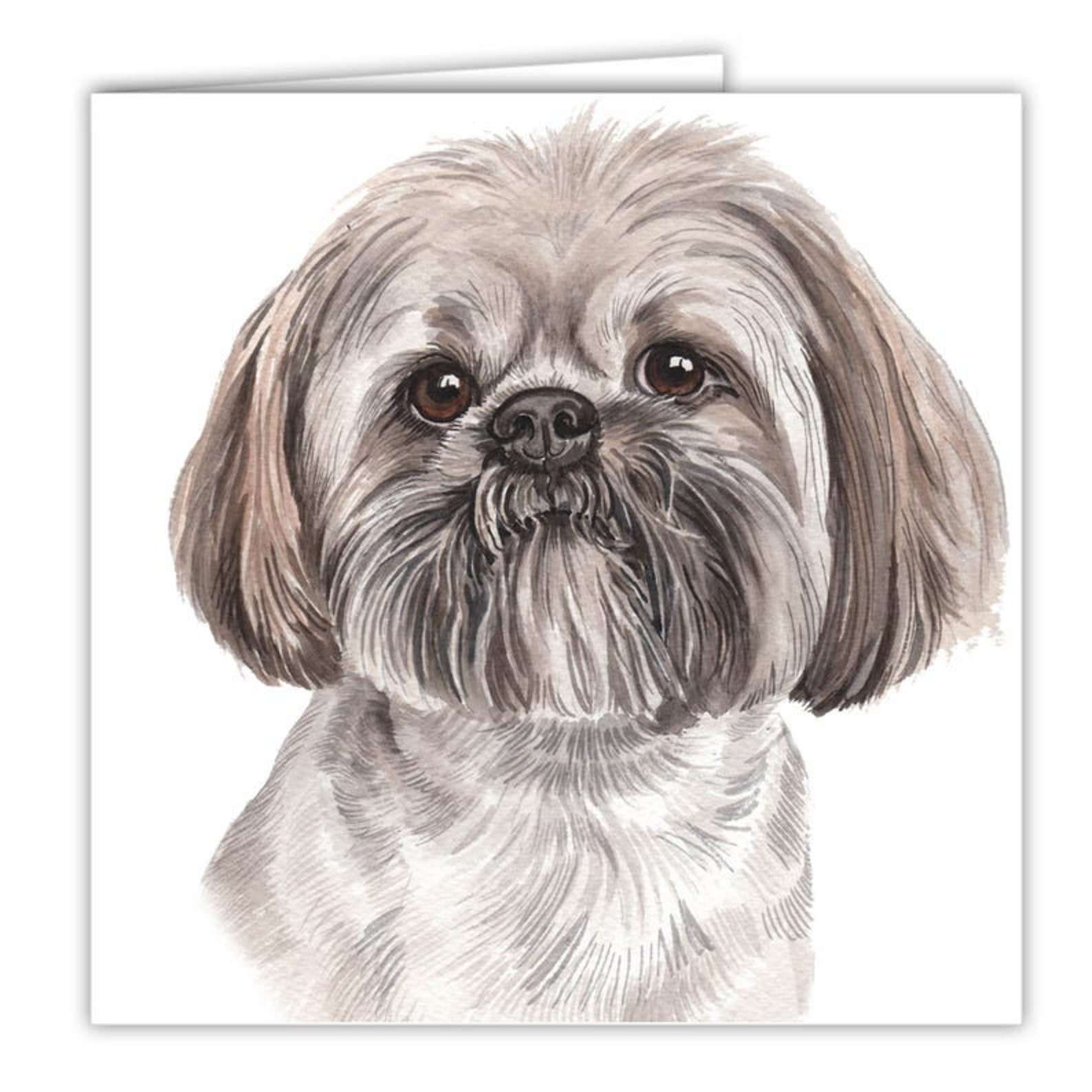Lhasa Aspo Dog Birthday Card