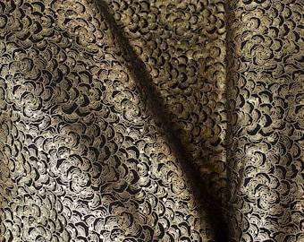 MUSTARD  ITALIAN CAVIAR Leather Calf Cow Hide Scraps Scrap Square Pieces Swatches Samples  5x5-20x20in.
