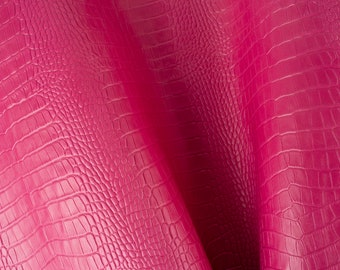 PinkWhite Embossed Print Khaki ITALIAN Leather Calf Cow Hide Scraps Scrap Square Pieces Swatches Samples  5x5-20x20in.
