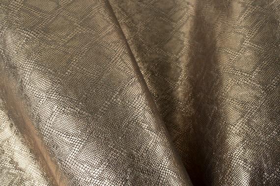 DARK BROWN EMBOSSING ITALIAN  Leather Calf Cow Hide Scraps Scrap Square Pieces