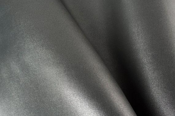 SILVER ITALIAN SAFFIANO Leather Calf Cow Hide Scraps Scrap Square Pieces