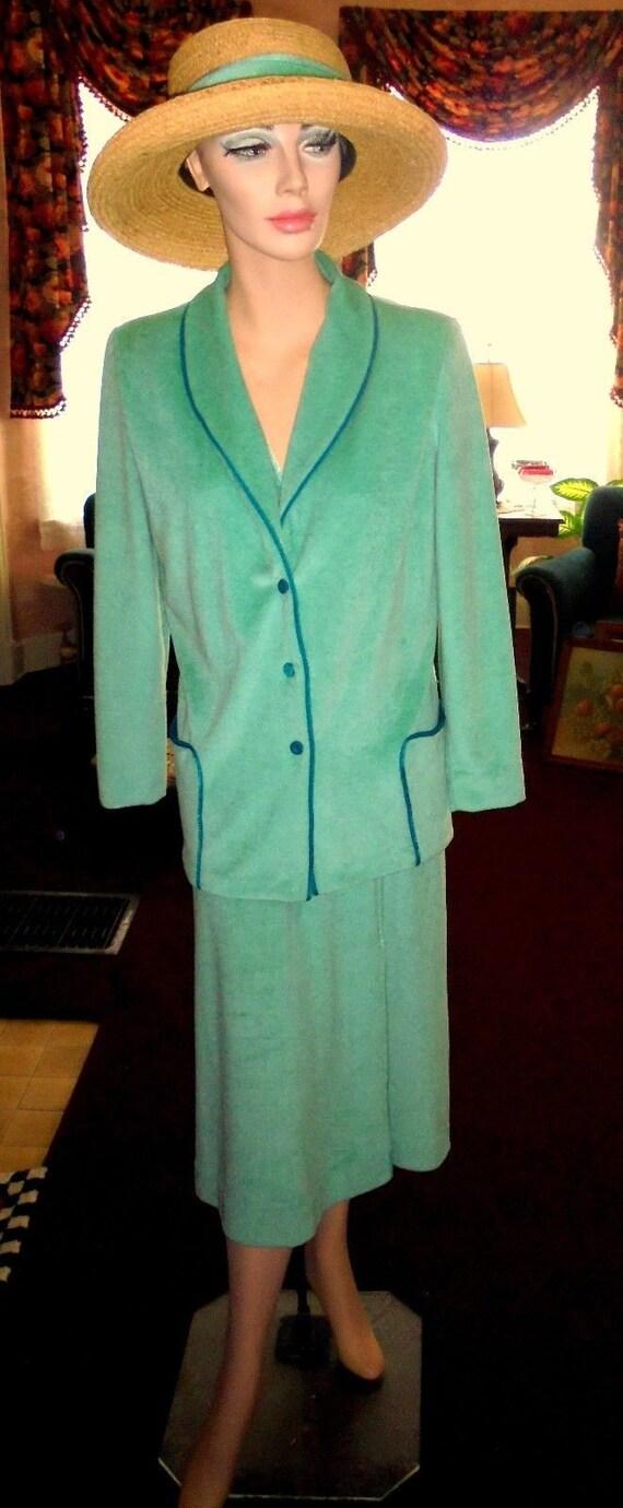 Vintage De Weese Design Chenille Terry Dress / Mat