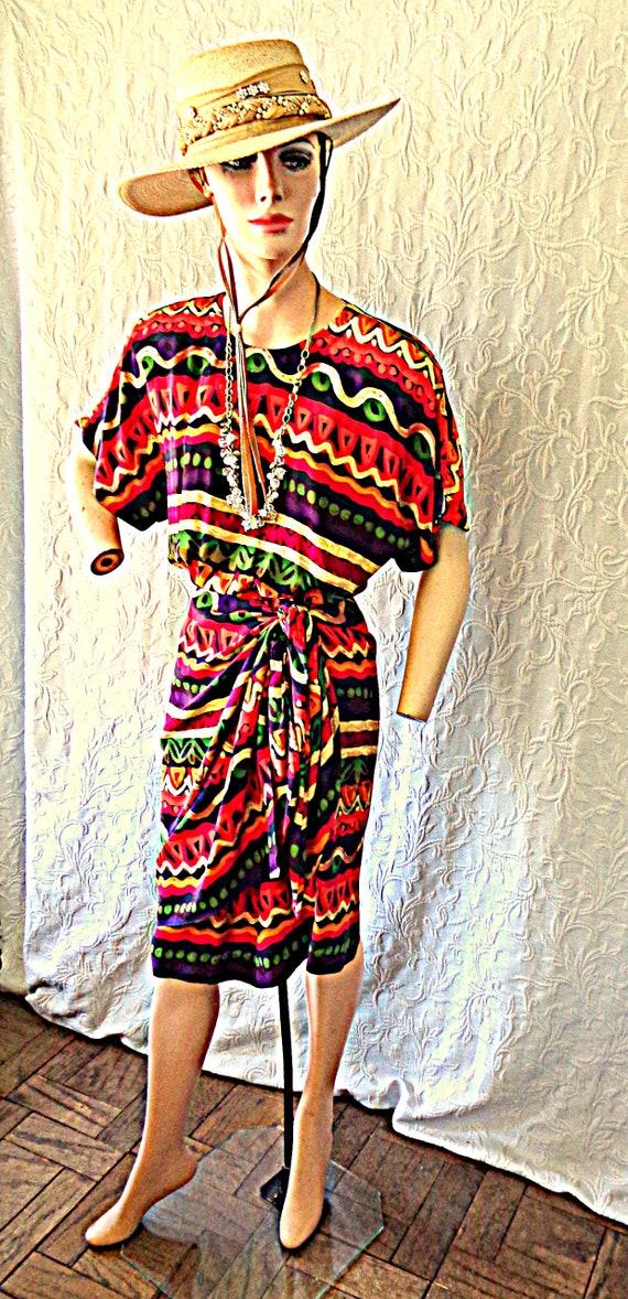 Maggy London Mexican Fiesta Silk Dress 12