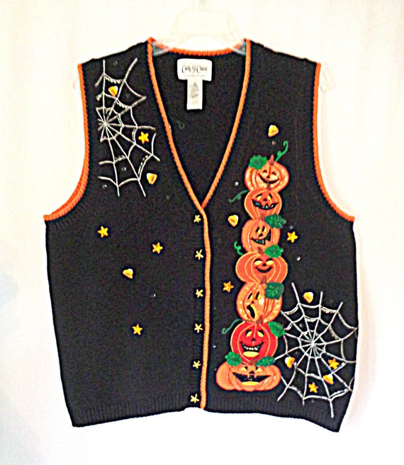 Carly St. Claire Jacks in Spider Webs Sweater Vest