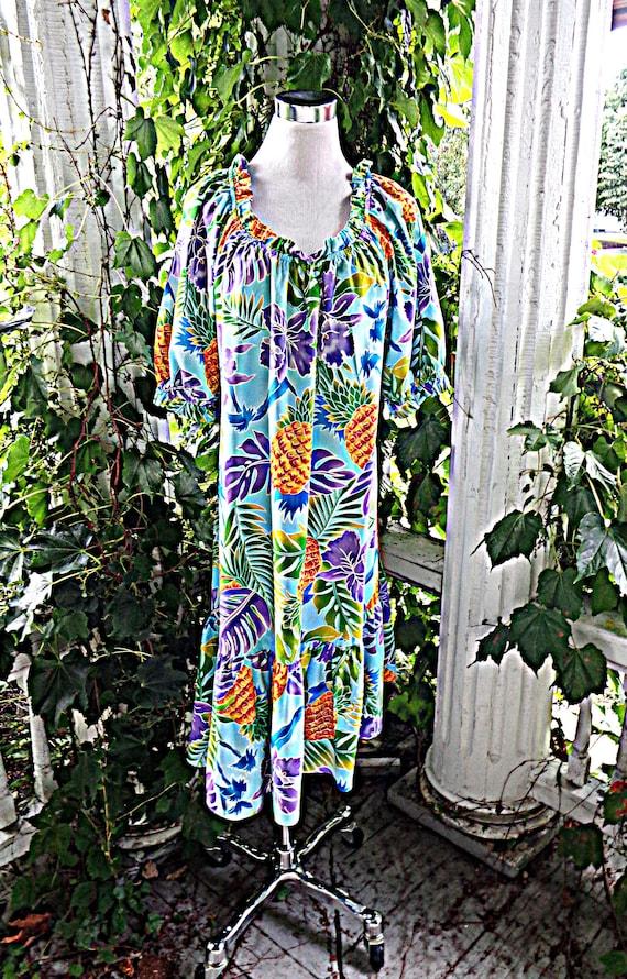 Hilo Hattie Hawaiian Patio Dress Size L