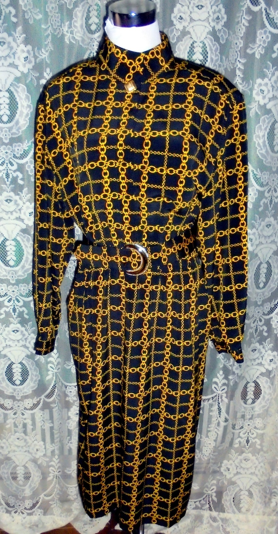 HANA SUNG Gold Chains Shirt Dress 16